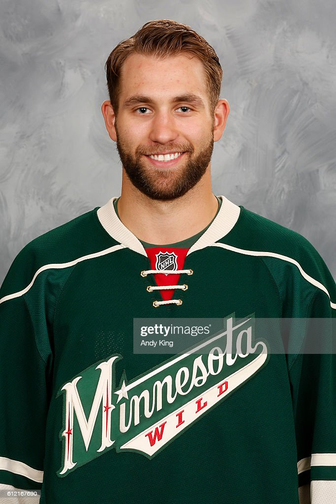 Jason Zucker Of The Minnesota Wild Poses For His Official Headshot