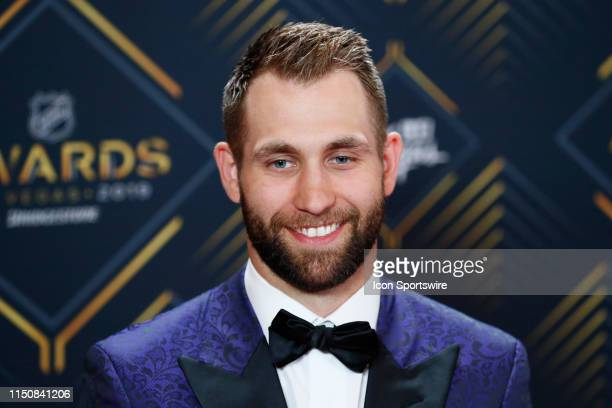 Jason Zucker of the Minnesota Wild poses for photos on the red carpet during the 2019 NHL Awards at Mandalay Bay Resort and Casino on June 19, 2019...