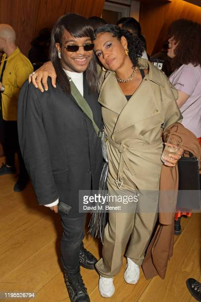 Jason's Closet and Neneh Cherry attend the Neneh Cherry and iD celebration of 30 years of 'Raw Like Sushi' at The London EDITION on January 23 2020...