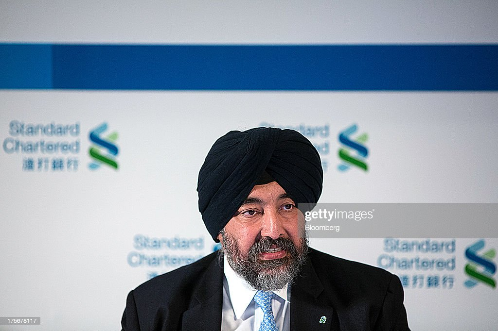 Jaspal Bindra, chief executive officer for Asia at Standard Chartered Plc, speaks during a news conference in Hong Kong, China, on Tuesday, Aug. 6, 2013. Standard Chartered, the U.K. bank that makes about three quarters of its earnings from Asia, posted a 24 percent drop in first-half profit after writing down the value of its Korean business by $1 billion. Photographer: Lam Yik Fei/Bloomberg via Getty Images