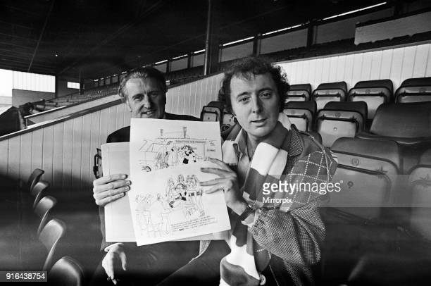 Jasper Carrott comedian actor television presenter personality and latest Birmingham City boardroom recruit pictured with club chairman Keith Coombs...