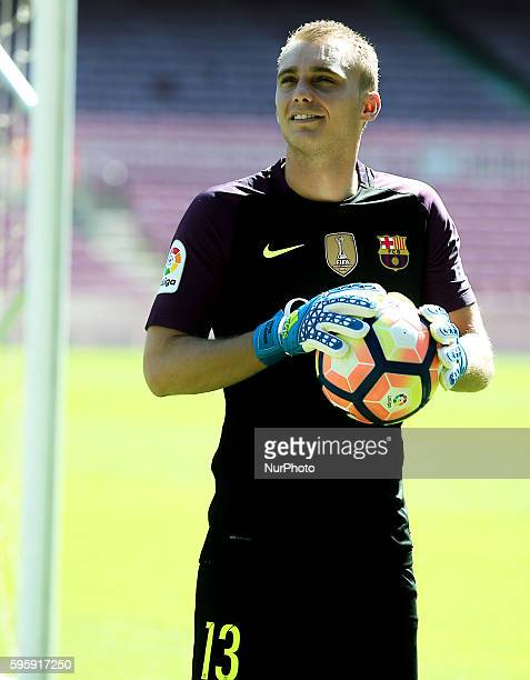 Jasper Cillessen during his presentation as new player of FC Barcelona on august 26 2016