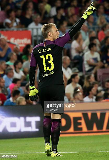 Jasper Cillessen during La Liga match between FC Barcelona v Alaves in Barcelona on September 10 2016
