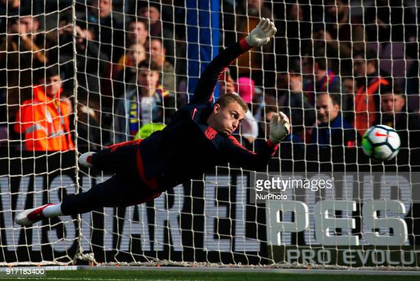 Jasper Cillessen during the match between FC Barcelona and Getafe CF for the round 23 of the Liga Santander played at the Camp Nou Stadium on 11th...