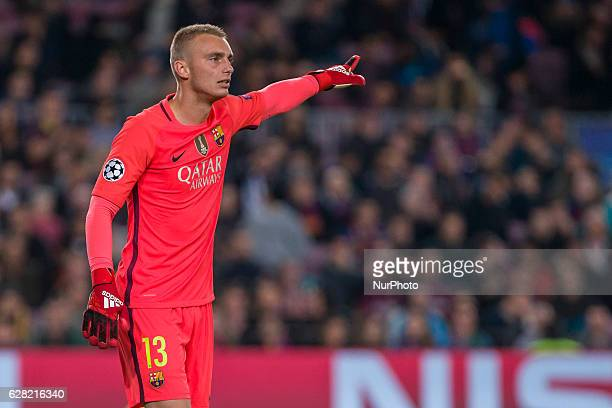 Jasper Cillessen during the match between FC Barcelona Borussia Monchengladbach for the matchday 6 of the Champions League played at Camp Nou Stadium...
