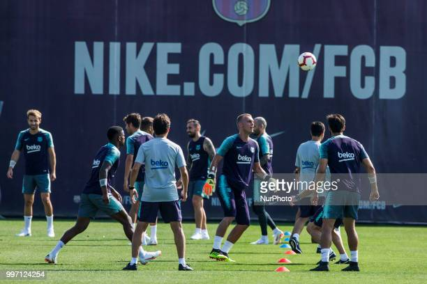 Jasper Cillessen from Holland during the first FC Barcelona training session of the 2018/2019 La Liga pre season in Ciutat Esportiva Joan Gamper...