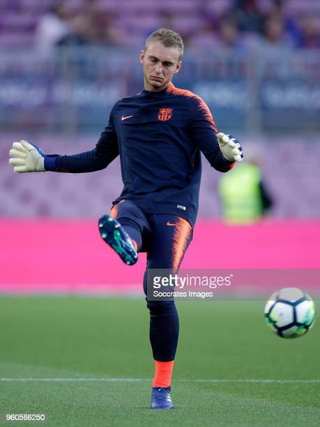 Jasper Cillessen of FC Barcelona during the La Liga Santander match between FC Barcelona v Real Sociedad at the Camp Nou on May 20 2018 in Barcelona...