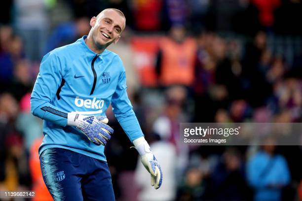 Jasper Cillessen of FC Barcelona during the Spanish Copa del Rey match between FC Barcelona v Levante at the Camp Nou on April 27 2019 in Barcelona...