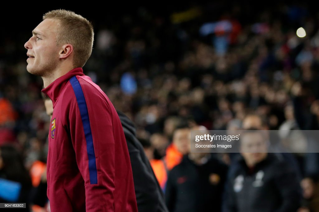 Jasper Cillessen of FC Barcelona during the Spanish Copa del Rey match between FC Barcelona v Celta de Vigo at the Camp Nou on January 11, 2018 in Barcelona Spain