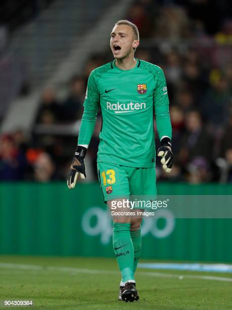 Jasper Cillessen of FC Barcelona during the Spanish Copa del Rey match between FC Barcelona v Celta de Vigo at the Camp Nou on January 11 2018 in...