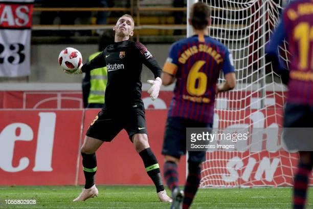 Jasper Cillessen of FC Barcelona during the Spanish Copa del Rey match between Cultural Leonesa v FC Barcelona at the Estadio Municipal Reino de León...