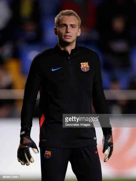 Jasper Cillessen of FC Barcelona during the Spanish Primera Division match between Villarreal v FC Barcelona at the Estadio de la Ceramica on...