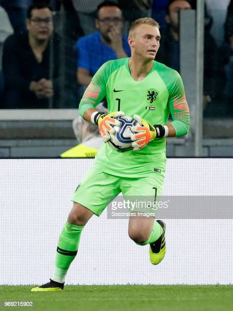 Jasper Cillessen of Holland during the International Friendly match between Italy v Holland at the Allianz Stadium on June 4 2018 in Turin Italy