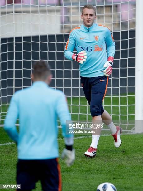 Jasper Cillessen of Holland during the Training Holland in Geneve at the Stade de Geneve on March 25 2018 in Geneve Switzerland