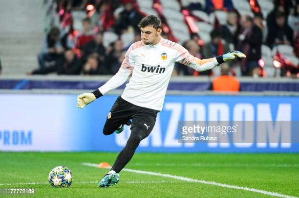 Jasper CILLESSEN of Valence before the UEFA Champions League Group H match between Lille and Valencia on October 23 2019 in Lille France