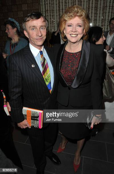 Jasper Conran and Cilla Black attends the book launch party for Nicky Haslam's autobiography 'Redeeming Features' on November 5 2009 in London England