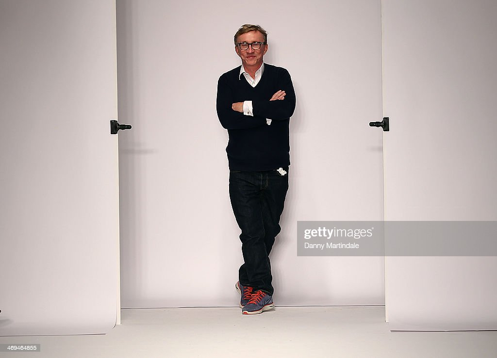 Jasper Conran walks the runway at the Jasper Conran show at London Fashion Week AW14 at on February 15, 2014 in London, England.