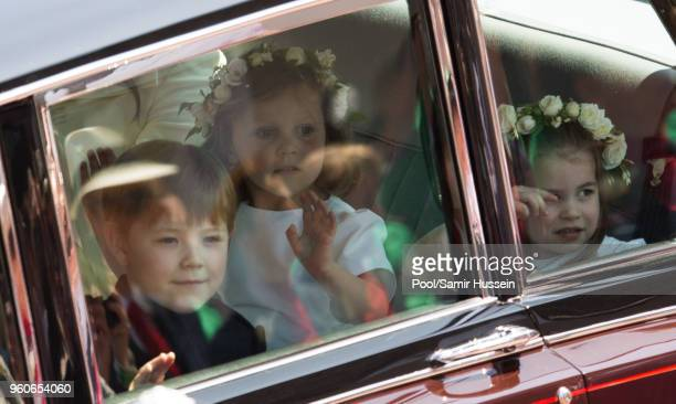 Jasper Dyer Princess Charlotte and Florence van Cutsem attend the wedding of Prince Harry to Ms Meghan Markle at St George's Chapel Windsor Castle on...