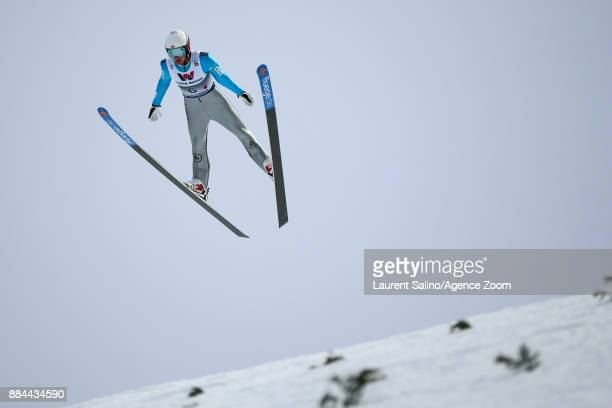 Jasper Good of USA competes during the FIS Nordic World Cup Men's and Women's Nordic Combined HS100/Team on December 2 2017 in Lillehammer Norway