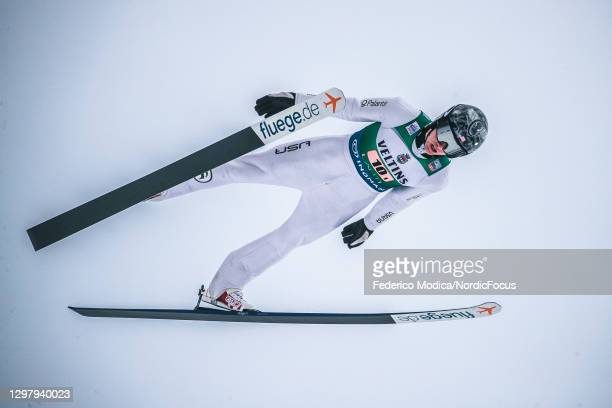 Jasper Good of USA competes during the Men's Team Sprint HS130/2x7.5 Km at the Viessmann FIS Nordic Combined World Cup Lahti at on January 23, 2021...