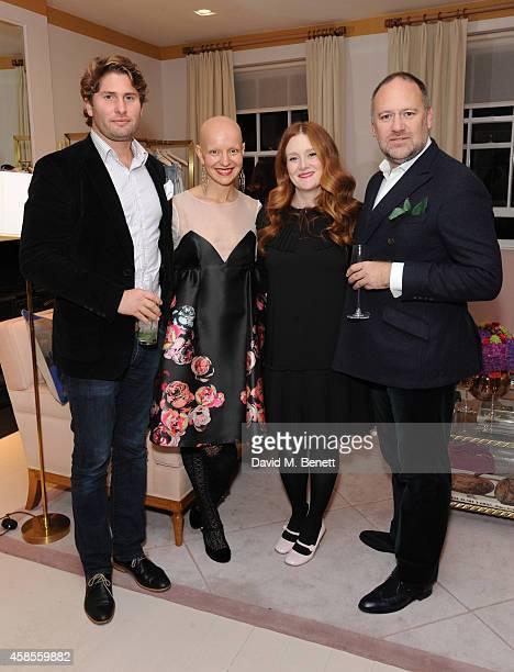 Jasper Graham Rachel Fleit Giovanna Randall and David Leppan attend Moda Operandi hosted by HONOR designer Giovanna Randall on November 6 2014 in...
