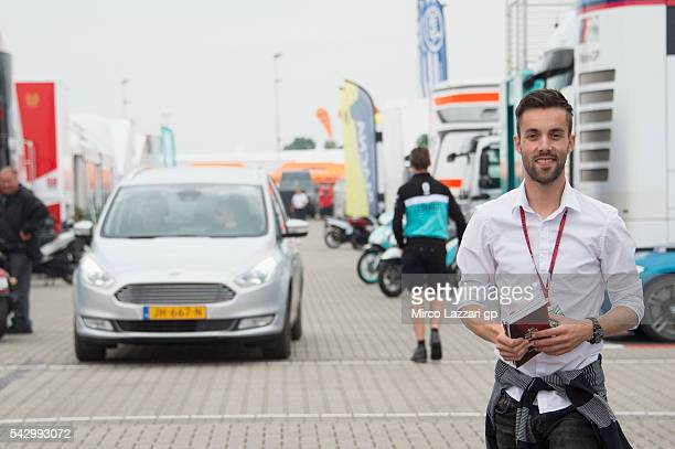 Jasper Iwema of Netherlands smiles in paddock during the qualifying practice during the at MotoGP Netherlands Qualifying on June 25 2016 in Assen...