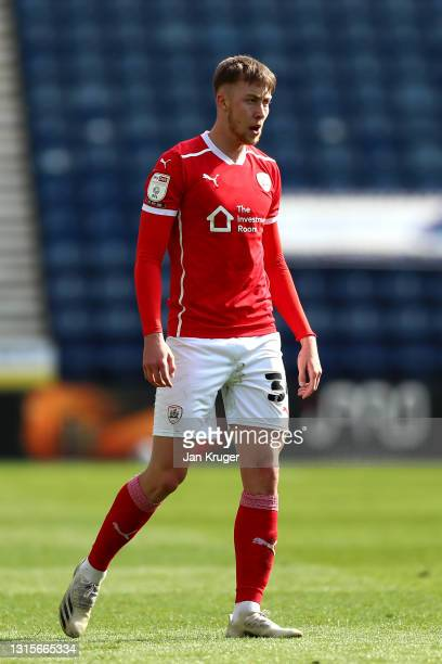 Jasper Moon of Barnsley during the Sky Bet Championship match between Preston North End and Barnsley at Deepdale on May 01, 2021 in Preston, England....