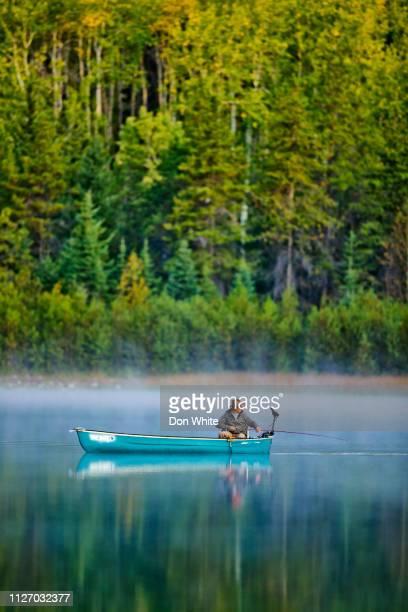parc national de jasper en alberta canada - bateau de plaisance photos et images de collection
