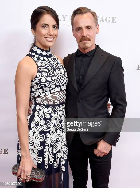 Jasper Paakkonen and Alexandra Escat arrive at An Evening in China with WildAid at the Beverly Wilshire Four Seasons Hotel on November 10 2018 in...