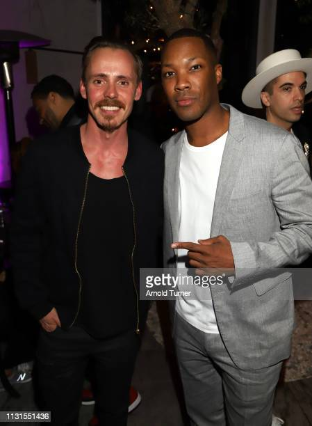Jasper Pakkonen and Corey Hawkins attend Common's 5th Annual Toast to the Arts at Ysabel on February 22 2019 in West Hollywood California