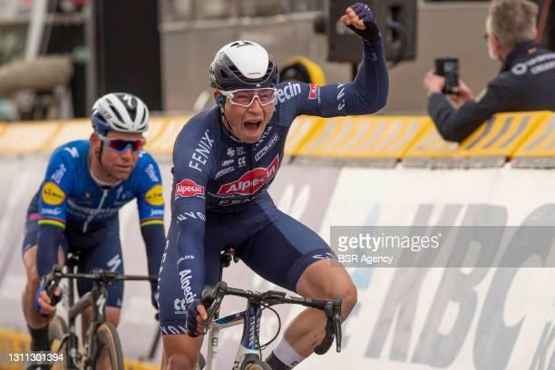Jasper Philipsen of Team Alpecin Fenix and Belgium wins the 109th Scheldeprijs 2021 - Men's Elite on April 7, 2021 in Schoten, Belgium (Photo by