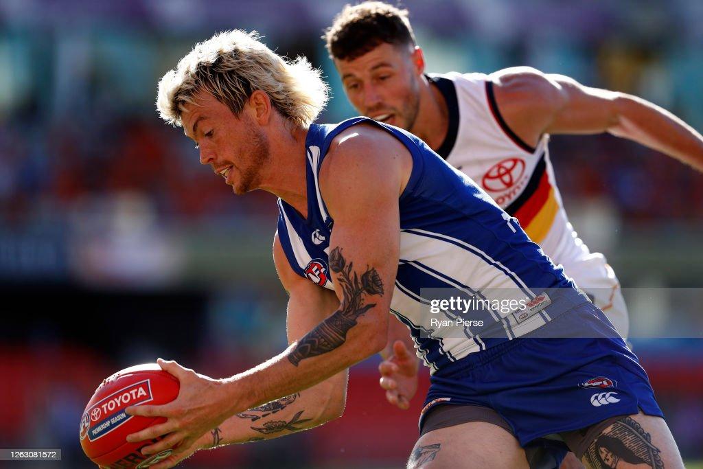 AFL Rd 9 - North Melbourne v Adelaide : News Photo