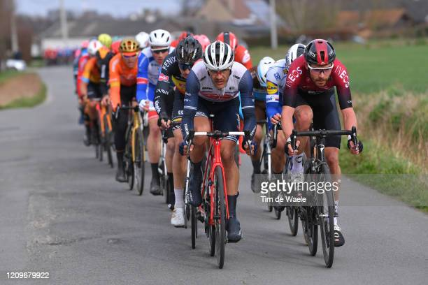 Jasper Stuyven of Belgium and Team TrekSegafredo / Owain Doull of The United Kingdom and Team INEOS / during the 72nd KuurneBrusselKuurne 2020 a...