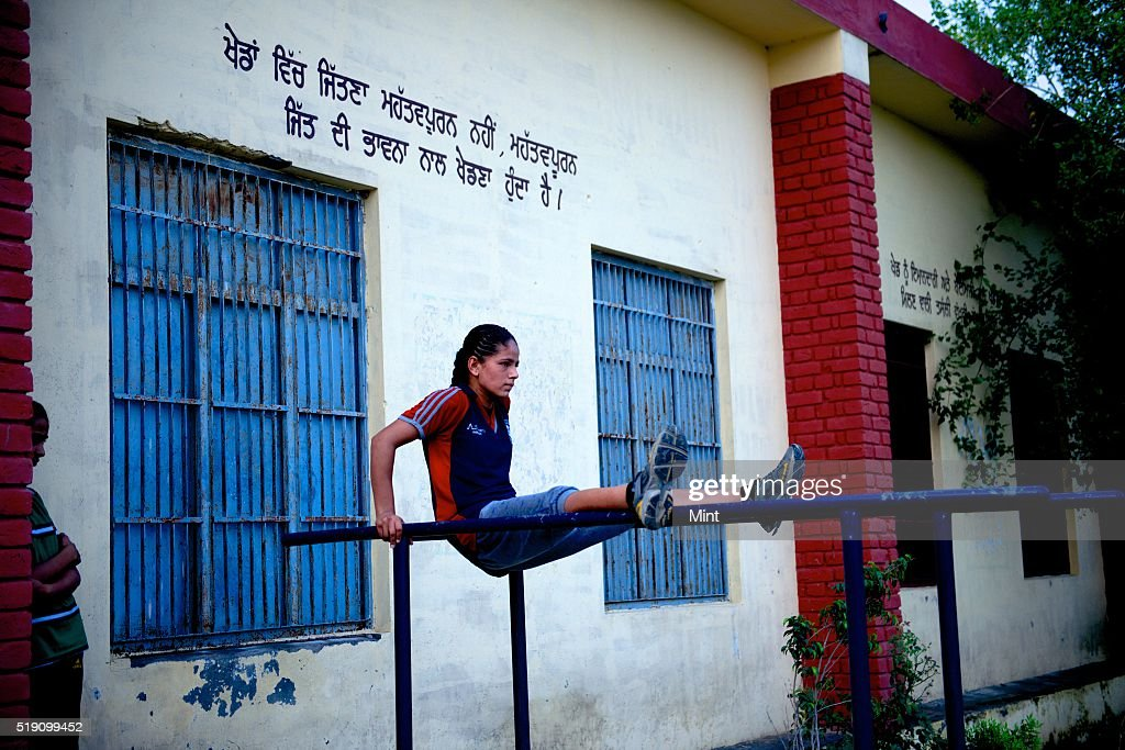 Jaspreet Kaur Junior boxer from Chakar village at SherePunjab Academy which has been producing some of India`s best women boxers on July 1 2015 in...