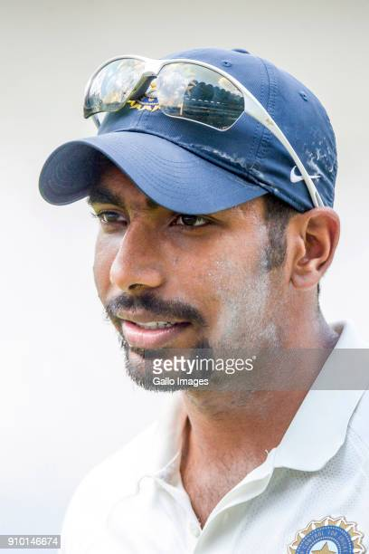 Jasprit Bumrah of India during day 2 of the 3rd Sunfoil Test match between South Africa and India at Bidvest Wanderers Stadium on January 25 2018 in...