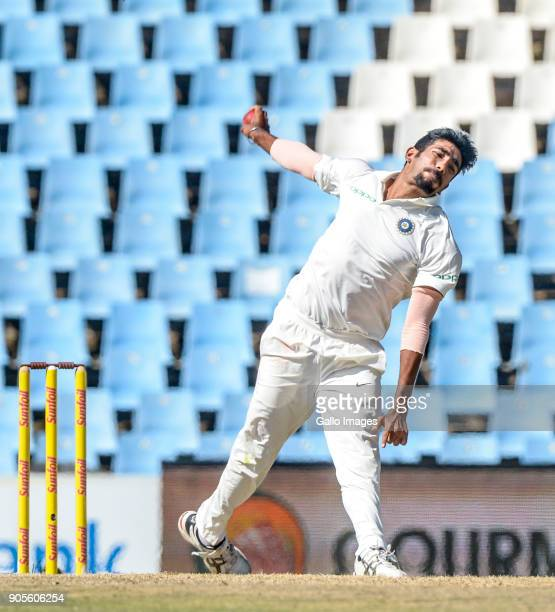 Jasprit Bumrah of India during day 4 of the 2nd Sunfoil Test match between South Africa and India at SuperSport Park on January 16 2018 in Pretoria...