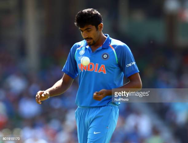 Jasprit Bumrah of India during the ICC Champions Trophy Final match between India and Pakistan at The Oval in London on June 18 2017