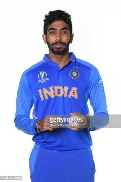 Jasprit Bumrah of India poses for a portrait prior to the ICC Cricket World Cup 2019 at the Plaza Hotel on May 24, 2019 in London, England.