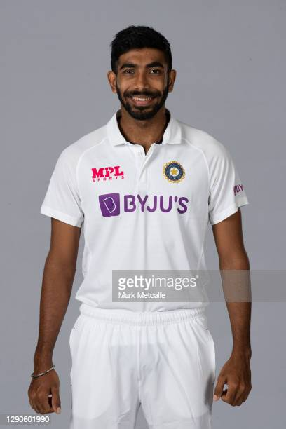 Jasprit Bumrah poses during the India Test squad headshots session at the Intercontinental on December 10, 2020 in Sydney, Australia.