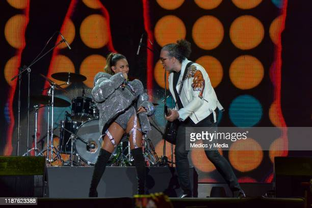 Jass Reyes and Angel Reyes of Playa Limbo perform during the TeleHit Awards 2019 at Foro Sol on November 13 2019 in Mexico City Mexico