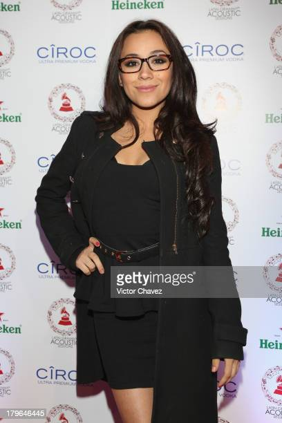 Jass Reyes attends the Latin GRAMMY Acoustic Session 2013 Mexico City at Centro Cultural Roberto Cantoral on September 5 2013 in Mexico City Mexico