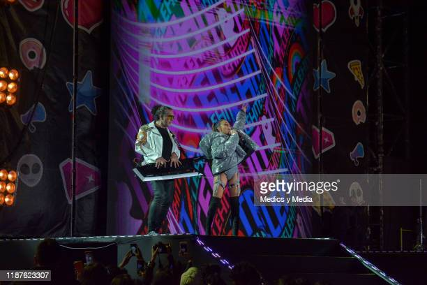 Jass Reyes of Playa Limbo performs during the TeleHit Awards 2019 at Foro Sol on November 13 2019 in Mexico City Mexico