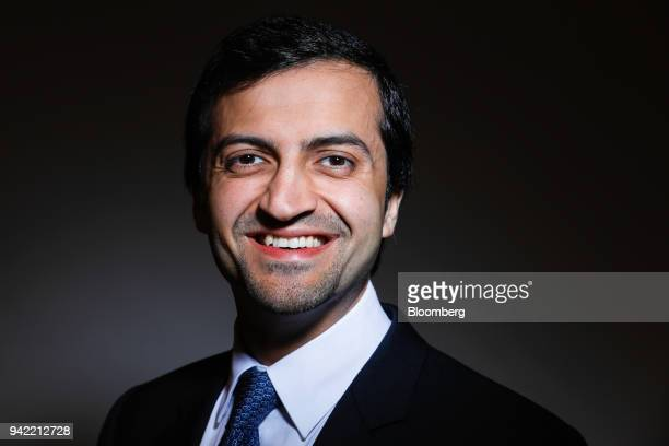 Jassim Alseddiqi chief executive officer Abu Dhabi Financial Group LLC poses for a photograph following a Bloomberg Television interview in London UK...