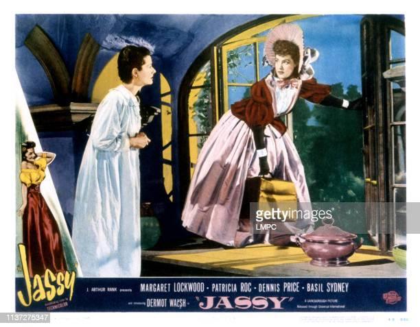 Jassy lobbycard from left Margaret Lockwood Patricia Roc 1947