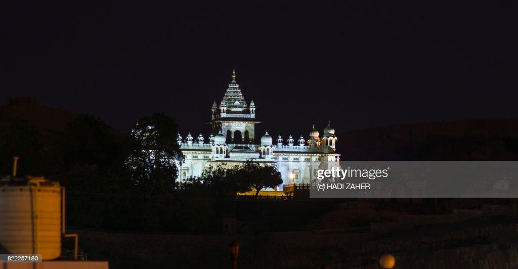 Jaswant Thada at night | Jodhpur | Rajasthan | India : Stock Photo