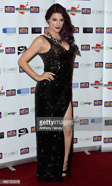 Jasz Vegas attends the National Reality TV Awards at Porchester Hall on September 30 2015 in London England