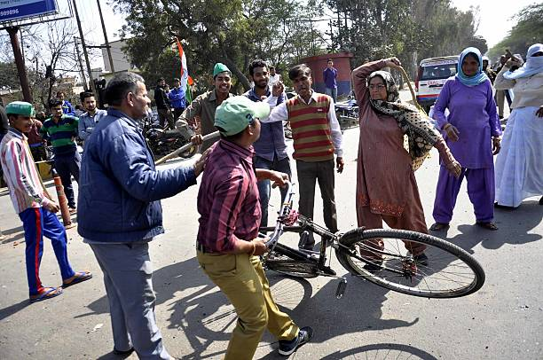 Jat Community Members Protest Demand Reservation In