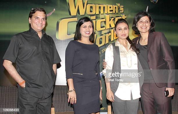 Jatin Pandit Devita Saraf Rani Mukherjee and Anjum Chopra at the launch of book Women`s Cricket World coauthored by former India women cricket team...