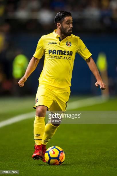Jaume Costa during the match between Villarreal CF against FC Barcelona week 15 of La Liga 2017/18 at Ceramica stadium Villarreal SPAIN 10th December...