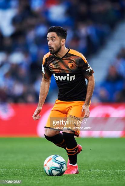 Jaume Costa of Valencia CF in action during the Liga match between Real Sociedad and Valencia CF at Estadio Anoeta on February 22 2020 in San...